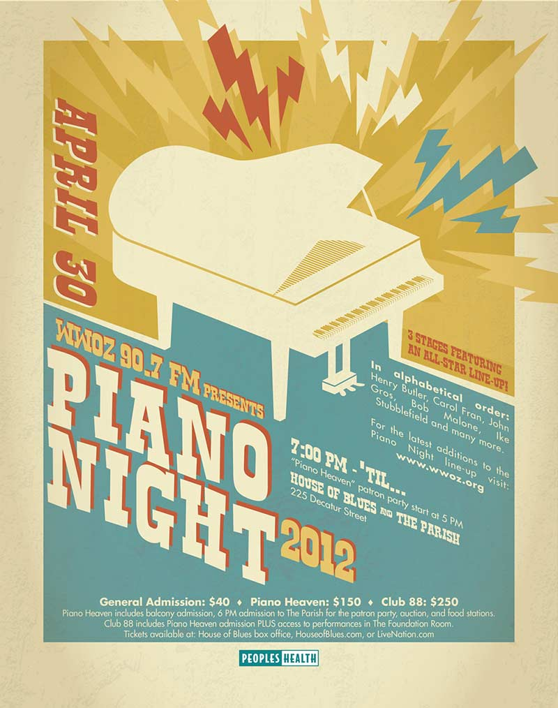 WWOZ Piano Night 2012 Ad
