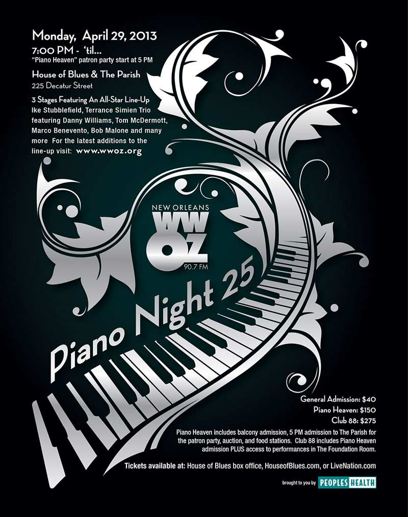 WWOZ Piano Night 2013 Ad