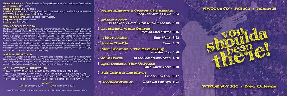 WWOZ CD Jacket & Liner Notes