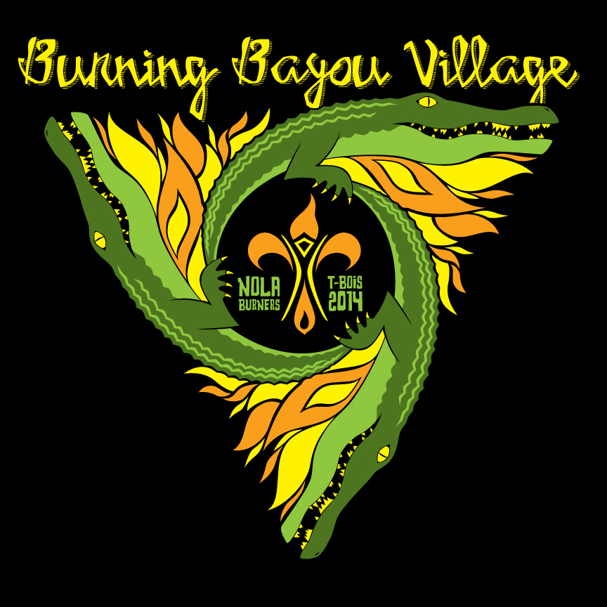 Burning Bayou Village T-Shirt