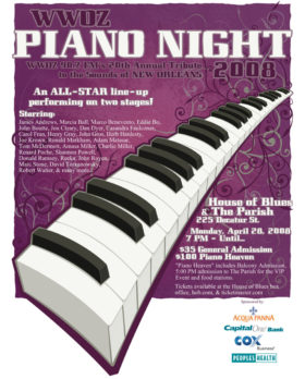 WWOZ Piano Night 2008 Ad