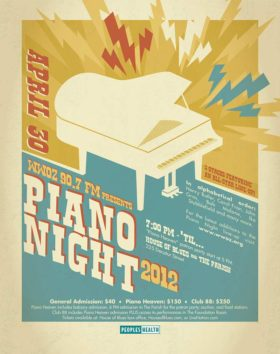 WWOZ Piano Night 2012 Ad
